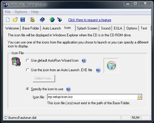 AutoRunWizard com - AutoRun Wizard FAQ - My autorun Icon is